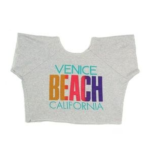 Tops - Vintage 80s Venice Beach California Crop Top